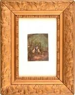 Jelzés Nélkül: Pihenő Férfi.Olaj, Papír, üvegezett Keretben, 8,5×6 Cm - Non Classés