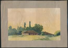 Jelzés Nélkül: Tanya. Akvarell, Papír, Papírra Kasírozva, 12×19 Cm - Non Classés