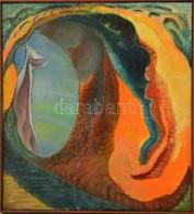 Jelzés Nélkül: Szerelem I.. Olaj, Vászon, Keretben, 60×55 Cm - Non Classés