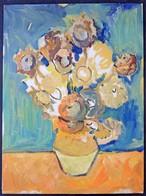 Jelzés Nélkül: Virágcsendélet (tanulmány). Olaj, Karton, 40x30 Cm - Non Classés