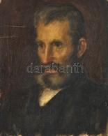 Jelzés Nélkül: Férfi Portré. Olaj, Vászon, 48×38 Cm - Non Classés