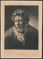 Rembrandt Van Rynnak Tulajdonítva, Jules-Ferdinand Jacquemart (1837-1880) Metszése: Vieillard Arcképe. Metszet, Papír, 1 - Gravures