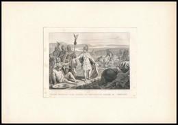 Cca 1840 Trajanus Ruhájával Kötözik A Sebesülteket Acélmetszet / Traian Gives Away His Clothes To Bind The Injured. Stee - Gravures