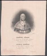 Kopátsi József Hercegprímás, Esztergomi érsek Kőnyomatú Protréja 17x25 Cm - Gravures