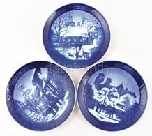 Royal Copenhagen Porcelán Tálak, 3 Db, Hibátlanok, Jelzettek, D: 18 Cm - Cerámica Y Alfarerías
