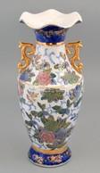 Yuchengfeng Jelzéssel. Porcelán Váza. Kézzel Festett, Jelzett, Kopásokkal 36 Cm - Cerámica Y Alfarerías