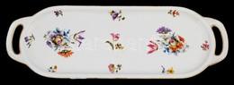 Epiag Hüttl, Bán és Mihalik Porcelán Süteményes Tál. Matricás Jelzett, Kis Kopásokkal 45x16 Cm - Cerámica Y Alfarerías