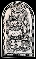 Rosenthal Fali Dísz. A Négy Szélirány - Észak. Matricás, Jelzett, Hibátlan. 15x25 Cm - Cerámica Y Alfarerías