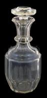 Színtelen üveg Kiöntő, Dugó Alján Csorbákkal, üveg Alján Karcolásokkal, M: 24 Cm - Vidrio & Cristal