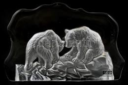 Medvés Svéd Asztali üvegdísz, 18×12 Cm - Vidrio & Cristal