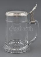 Üvegkorsó Fém Tetővel, Csorbával Az Alján, M: 17,5 Cm - Vidrio & Cristal