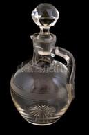 Üveg Ecettartó, Dugóval, Dugón Kis Csorbával, M: 15,5 Cm - Vidrio & Cristal