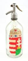 Fém Fejű Szódásüveg, Kézzel Festett Címerrel, Kopásokkal M: 31,5 - Vidrio & Cristal