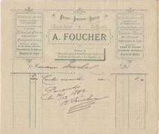 Charente, La Rochelle, Librairie, Papeterie, Imprimerie  A. Foucher 1892 - Printing & Stationeries