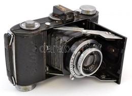 Cca 1950 Belca Beltica Fényképezőgép E. Ludwig Meritar 50mm F/2.9 Objektívvel, Kissé Kopott, Működőképes állapotban, Bőr - Macchine Fotografiche