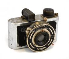 Photavit (?), Jelzés Nélküli Fényképezőgép, Pronto Zárral, 1:3,5 F=4 Cm-es Objektívvel, Kopottas állapotban, Nem Kipróbá - Appareils Photo