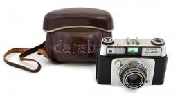 Ilford Sportsman Távmérős Fényképezőgép, Dignar 45mm F/2.8 Objektívvel, Működőképes. Szép állapotban, Eredeti Bőr Tokjva - Appareils Photo