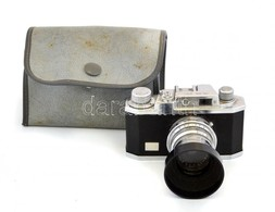 Halina 35x Kisfilmes Fényképezőgép, Jó állapotban, Napellenzővel, Tokkal / Vintage Halina Film Camera - Appareils Photo