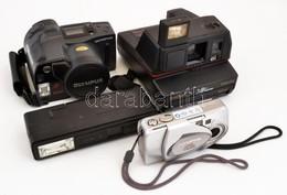 4 Db Fényképezőgép Olympus, Olympus Kamera, Polaroid, Keystone + Fotóstáska - Appareils Photo
