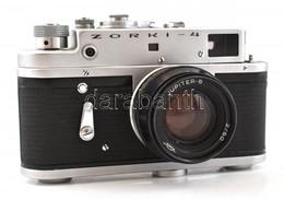 Zorkij-4 Szovjet Távmérős Fényképezőgép, Jupiter-8 2/50 Mm Objektívvel, Eredeti Bőr Tokjában, Jó állapotban / Vintage Ru - Appareils Photo