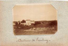 ¤¤   -  JAULNY   -   Cliché Albuminé Vers 1900  -  Le Chateau   -  Voir Description   -  ¤¤ - Francia