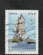 FRANCE 2015- 300è Anniversaire Du Débarquement Des Français à L'Ile Maurice Oblitere YT 4979- - Usati