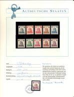 19167 Germania Wurttemberg, Nr.241/250 Nuovi (**) , Certificato Richard Borek - Wurttemberg