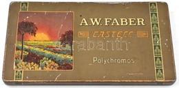"A. W. ""Castell"" Polychromos Fémdoboz, Kopott, 17,5x10x1 Cm - Autres Collections"