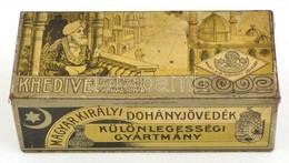 Khedive, Egyiptomi Szivarka Fémdoboz, Kopott, 15x5x6 Cm - Autres Collections