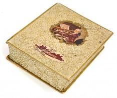 Hofbauer Régi Bonbonos Kartondoboz, Kopásnyomokkal, A Doboz Alján Tintás Firkával, 14x18x4 Cm - Autres Collections