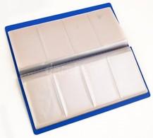 64 Férőhelyes, Kék, Műanyag Névjegytartó 26,5x13 Cm - Autres Collections