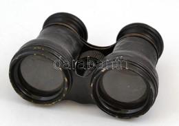 Bőr Borítású Réz Távcső, Használatból Eredő Kopásnyomok, Lencsén Enyhe Karc. 8,5 X 10 Cm - Autres Collections