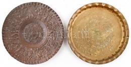 2 Db Arab és Mexikói Réz Tál, D: 19,5 és 20 Cm - Autres Collections