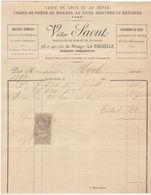 Charente, La Rochelle, V. Saout, Marchand De Bois Et De Charbon 1897 - 1800 – 1899