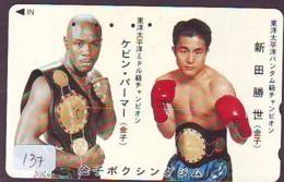 Telecarte SPORT * BOXING * (137) BOX Boxen Sport Phonecard Japon - - Sport