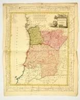 1800 Három Portugál Tartomány Térképe. Provincias Septentrionales De Portugal, Beira, Tras Los Montes & Entre Douro Minh - Kaarten