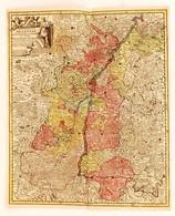 Cca 1770 Georg Balthasar Probst (1732-1801): Landgraviatus Alsatiae Tam Superioris Quam Inferi Cum Utroqe Marchionatu Ba - Kaarten