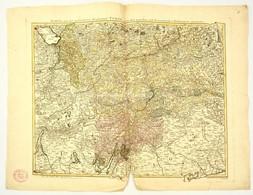Tirol Térképe Jean Welch: Karte Der Gefürsteten Grafschaft Tyrol Nebst Vorarlberg... Augsburg, 1797. Nagyméretű Színezet - Kaarten