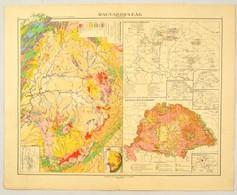 Magyarország 9 Különféle Térképe, Kogutowicz-Littke Világatlasz, Kiadja: Magyar Földrajzi Intézet Rt., 58×46 Cm - Kaarten