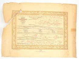 """1880 """"Az 1848-1849.-iki Magyar Szabadságharcz Synchronistikai Térképe. Szerkesztette és Rajzolta: Rakssányi Gyula. Szaka - Kaarten"""