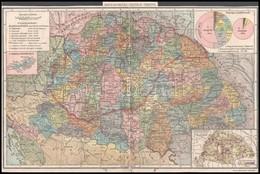 Magyarország Politikai Térképe. 1:2.500.000. Bp, Posner. Hajtásnyommal, 27x40,5 Cm. + Cca 1925-1930 Termésünk és Lakossá - Kaarten