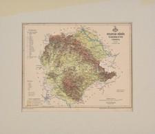 1896 Belovár-Körös Vármegye Térképe, Terv. Gönczy Pál, Pallas Nagy Lexikona, 1:460000, Bp., Posner Károly Lajos és Fia,  - Kaarten