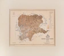 1893 Beszterce-Naszód Vármegye Térképe, Terv. Gönczy Pál, Pallas Nagy Lexikona, 1:470000, Bp., Posner Károly Lajos és Fi - Kaarten