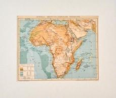 Cca 1900 Afrika Hegy- és Vízrajzi Térképe, Pallas Nagy Lexikona, Bp., Posner, Paszpartuban, 23x28 Cm - Kaarten