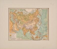 Cca 1890-95 Ázsia Hegy- és Vízrajzi Térképe, Kidolgozta. Kogutowicz Manó, Pallas Nagy Lexikona, 1:48000000, Bp., Hölzel  - Kaarten