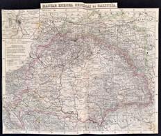 Cca 1870 Magyar Korona Országai és Galícia, Körbevágott, Hátoldalán Javított, 20x26 Cm - Kaarten