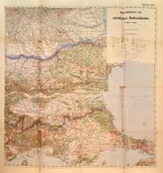 Cca 1912 Übersichtskarte Der Nördlichen Balkanländer, Östliches Blätt., 1:75.000, K.u.K. Militärgeographisches Institut, - Kaarten