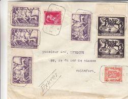 Belgique - Lettre Exprès De 1944 ° - Oblit Jemappes - Exp Vers Boitsfort - Chevaux - - Belgium