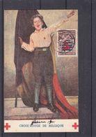 Croix Rouge - Belgique - Carte Postale De 1941 - Exp Vers Couillet - Armoiries - Drapeaux - Taxée De 80c  ?, - Belgium