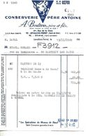 Facture 1/2 Format 1969 / 92 LEVALLOIS-PERRET / A BOUTEVIN / Conserverie Du Père ANTOINE / Logo Tête Vache - France